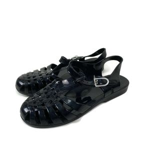 ASOS Jelly Fisherman Sandals Size 37 6 Black